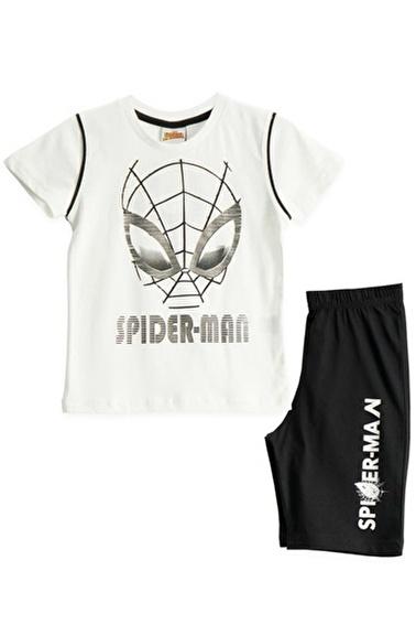 Spider-Man Spiderman Lisanslı Krem Erkek Çocuk Bermuda Takımı Krem